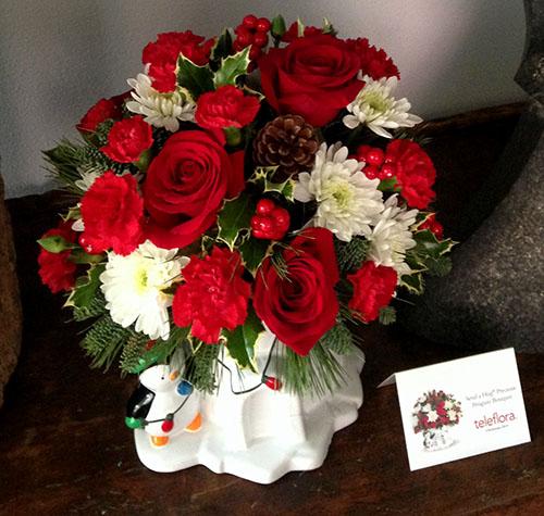Winter wonderland bouquets